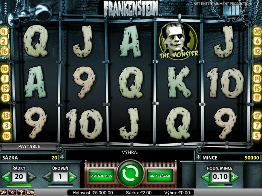 Obrázek casino automatu Frankenstein zdarma online