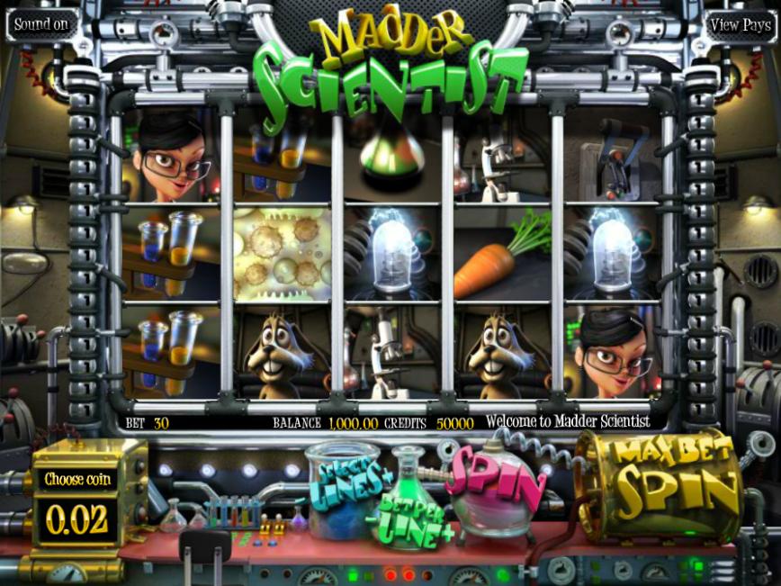 Online výherní automat Madder Scientist zdarma