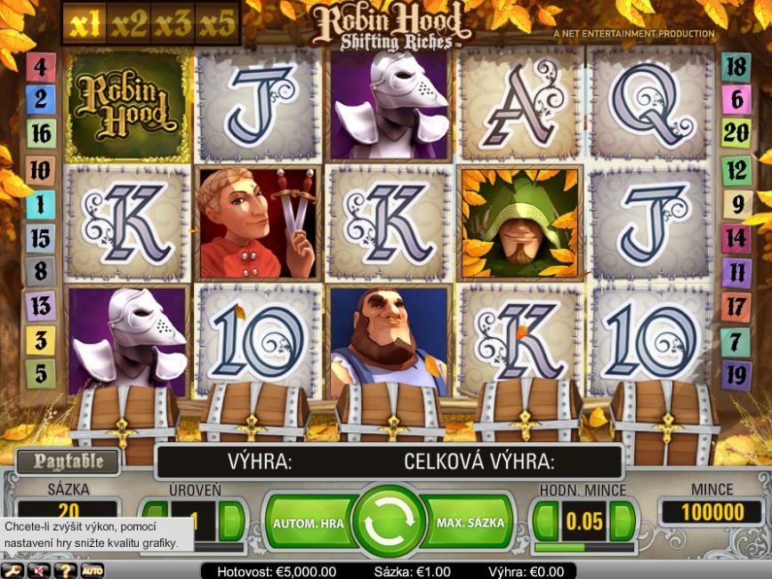 Obrázek casino automatu Robin Hood zdarma online