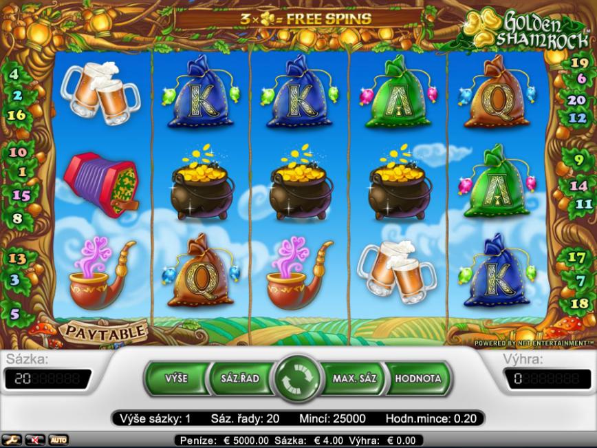 Herní online automat Golden Shamrock