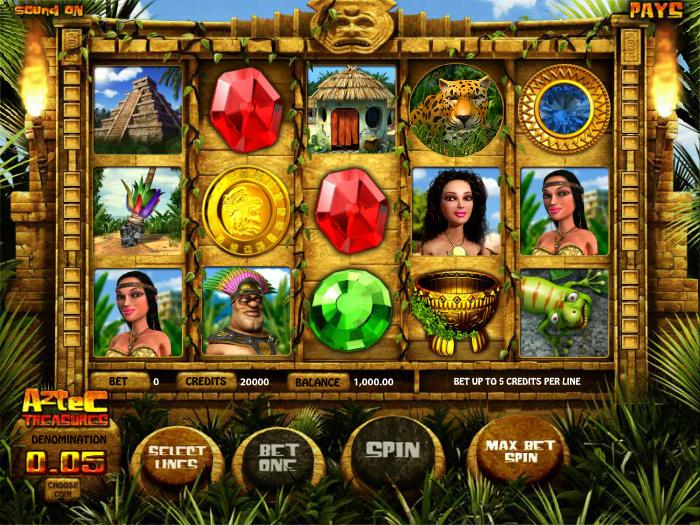 Hra automat Aztec Treasures zdarma online