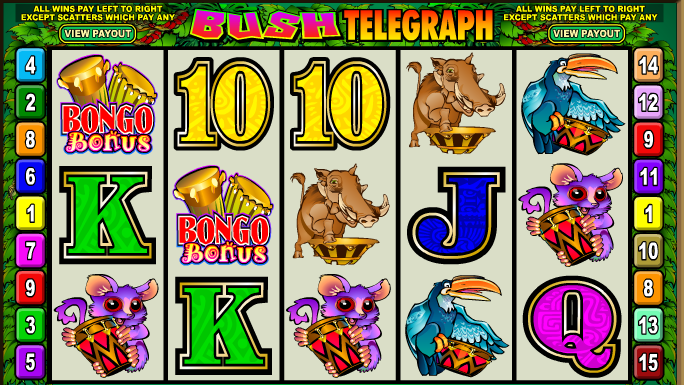 Online hrací automat Bush Telegraph bez registrace