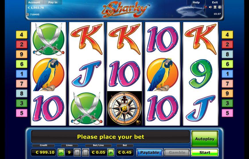 Online casino automat Sharky zdarma