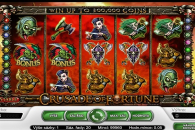Herní online automat zdarma Crusade of Fortune