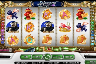 Hrací online casino automat Diamond Dogs