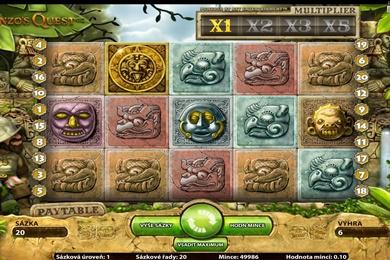 Hra automatu Gonzo´s Quest zdarma online