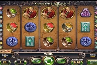 line casino automat Secret Code zdarma